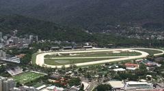 Aerial Brazil- Jockey Club Brasileiro, Rio de Janeiro, Stock Footage