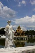 Statue at Bang Pa-In Palace Ayutthaya Thailand - stock photo