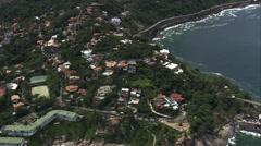 Aerial Brazil- north of Barra da Tijuca, Rio de Janeiro, - stock footage