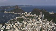 Aerial Brazil- Sugar Loaf Mountain, Rio de Janeiro, - stock footage