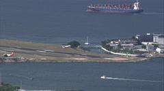 Aerial Brazil- Santos Dumont Airport, Rio de Janeiro, Stock Footage
