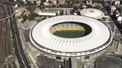 Aerial Brazil- Maracana and Ginasio do Maracanazinho, Rio de Janeiro, Stock Footage