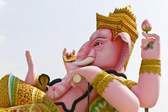 The God of wisdom and difficulty Ganesha statue - stock photo