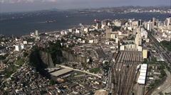 Aerial Brazil- Central do Brasil - central station, Rio de Janeiro, - stock footage