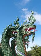 Serpent, Nagas Green Stock Photos