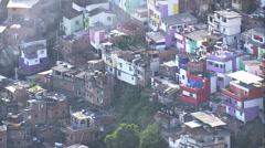Aerial Brazil- Santa Marta Favela, Rio de Janeiro, Stock Footage