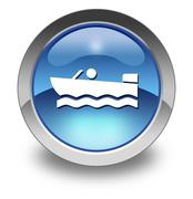 Icon, button, pictogram motorboat Piirros