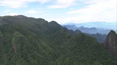 Aerial Brazil- Parque Nacional da Serra dos rgos, Rio de Janeiro, Stock Footage