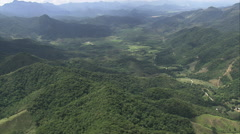 Aerial Brazil- Wooded hills Serra dos rgos, Cachoeiras de Macacu, Stock Footage