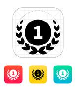 First place medal icon. Stock Illustration