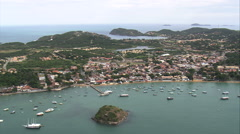 Aerial Brazil- Armacao dos Buzios, Armao dos B_zios, Stock Footage