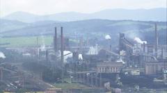 Aerial Brazil- President Arthur Bernardes Steel Plant, Ouro Branco, Stock Footage