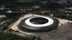Stock Video Footage of Aerial Brazil- Mineirao Stadium, Belo Horizonte,