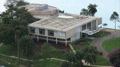 Aerial Brazil- Pampulha Art Museum, Belo Horizonte, Stock Footage