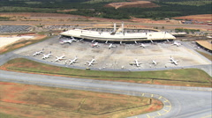 Aerial Brazil- Tancredo Neves International Airport, Confins, Stock Footage