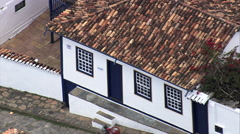 Aerial Brazil- Casa de Juscelino, Diamantina, - stock footage