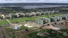 Aerial Brazil- Goverment offices, Brasilia, Stock Footage