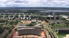 Aerial Brazil- National Congress and Federal Senate, Brasilia, - stock footage
