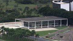 Aerial Brazil- Supreme Court, Brasilia, Stock Footage