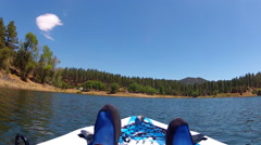 Kayak View Pan Of Lynx Lake- Prescott Arizona Stock Footage