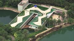 Aerial Brazil- Inhotim Art Gallery and Garden, Brumadinho, Stock Footage