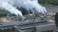 Aerial Brazil- Industrial plant, So Joo del Rei, Stock Footage