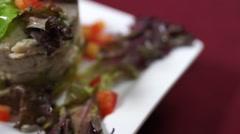 Jumbo Lump Crab Tower - Seafood Stock Footage