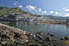 view of sant'angelo in ischia island - stock photo