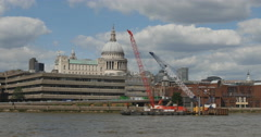 Construction around St Pauls in London 4K Stock Footage