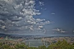 Danube view in budapest Stock Photos