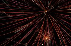 Exploding Fireworks close-up Stock Photos