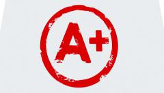 A+ Plus Report Card Grade Great Score Envelope Animation Stock Footage