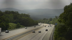 Highway traffic from overpass time lapse 4K version Stock Footage