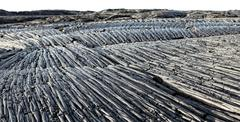 Pahoehoe lava flow, Hawaii Stock Photos