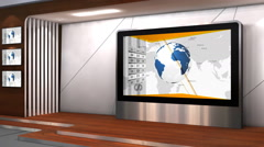 Business News TV studio 102i - stock footage