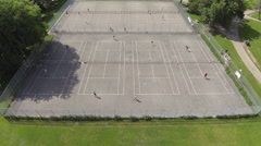 Tennis Court Aerial - stock footage