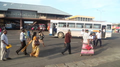 MATARA, SRI LANKA - MARCH 2014: View of bus station in Matara. Stock Footage