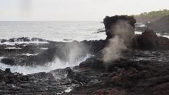 Geiser at Spouting Horn in Kauai Hawaii Stock Footage