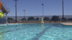 Lap Pool and diving board Stock Footage