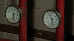Panorama of the pressure sensors (workshop) - stock footage