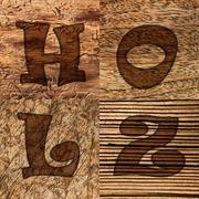 Verschiedene Holzarten Stock Photos