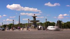Traffic on Place de la Concorde, Paris Stock Footage