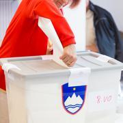 Citizens voting on democratic election. - stock photo