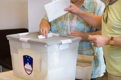 Citizens voting on democratic election. - stock photo