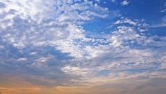 multi-level clouds. timelapse 4k - stock footage