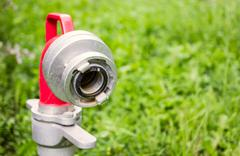 Close up hydrant nozzle Stock Photos