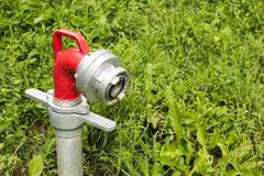 Hydrant in the grass Stock Photos