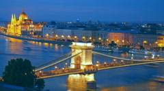 Panorama of Budapest, Hungary. Stock Footage