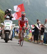 The cyclist David Moncoutie Stock Photos