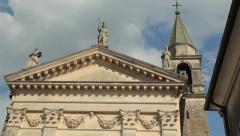 Italian church Stock Footage